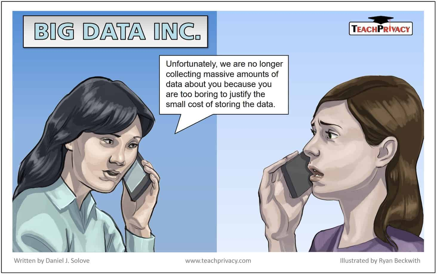 Cartoon on Big Data and Data Collection - TeachPrivacy Privacy Awareness Training