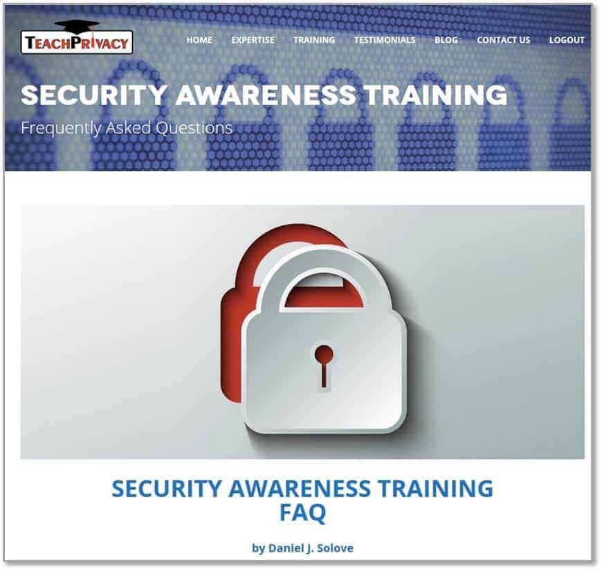 Security Awareness Training FAQ 01